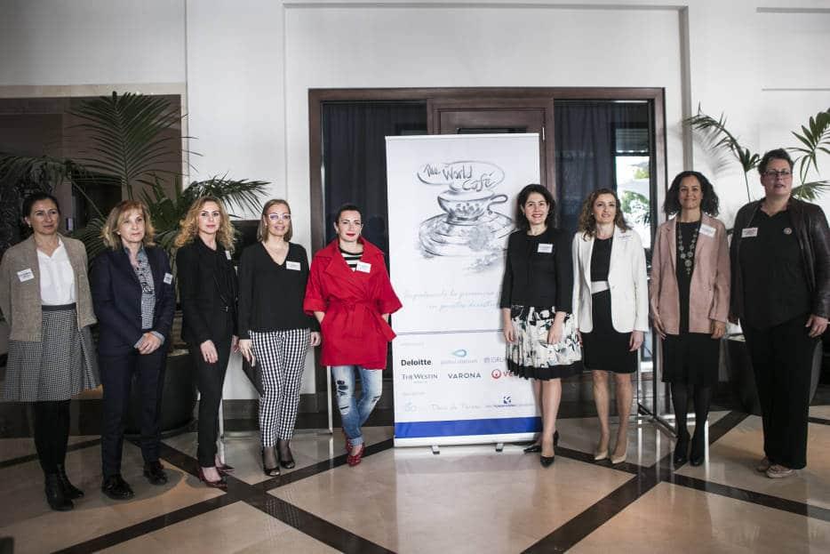 """Foto con las panelistas del Workshop """"Mujeres y Liderazgo"""""""