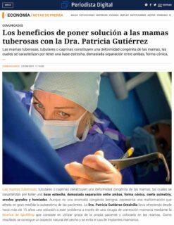 Los beneficios de poner solución a las mamas tuberosas con la Dra. Patricia Gutiérrez (Periodista Digital).